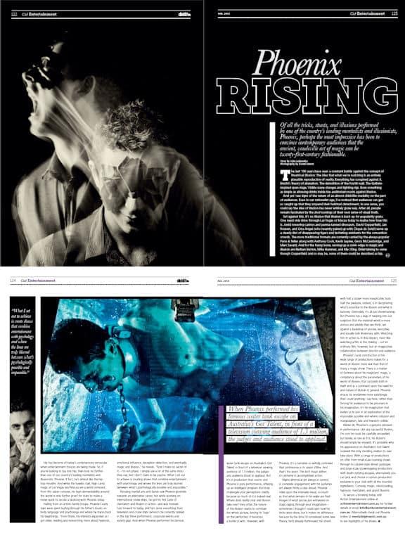 Club Life Magazine – Four page spread